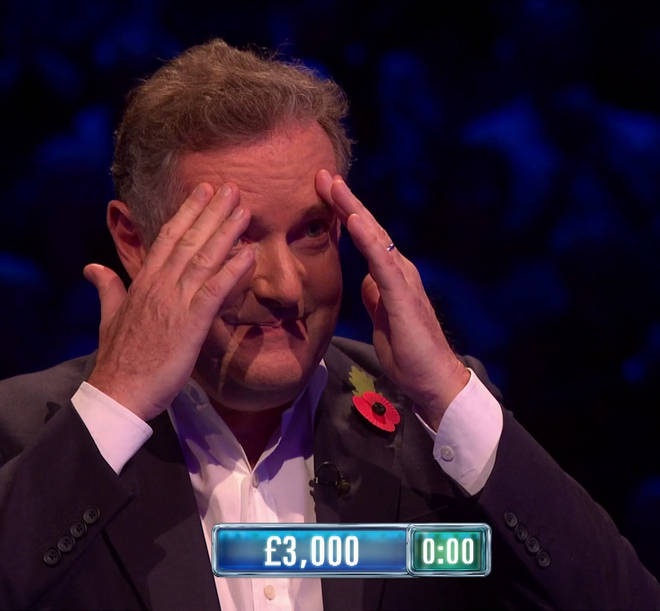 Piers grabbed his face on the show when he didn't know the answers