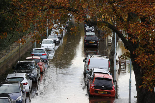 Parts of the UK are at risk of flooding