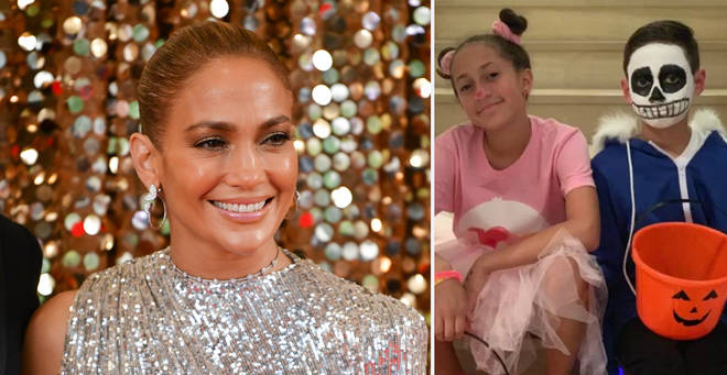 Jennifer Lopez has shared a rare picture of her two children