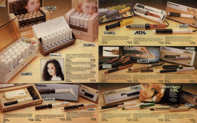 There's beauty products galore in the old versions