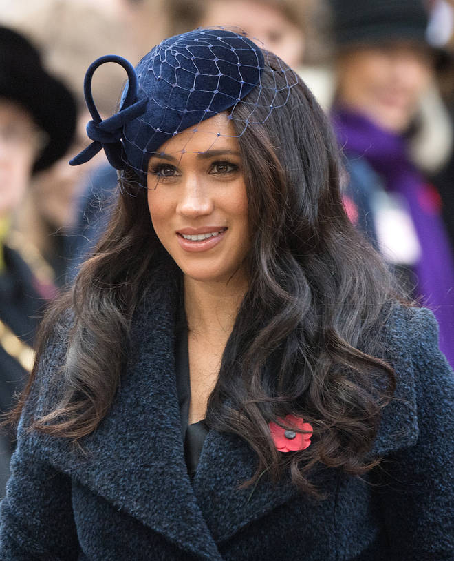 The Duchess of Sussex dressed in navy for the occasion