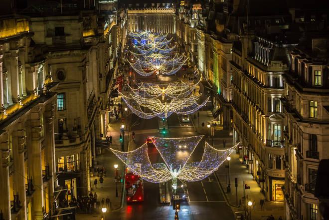 The Regent Street lights will be lit up soon