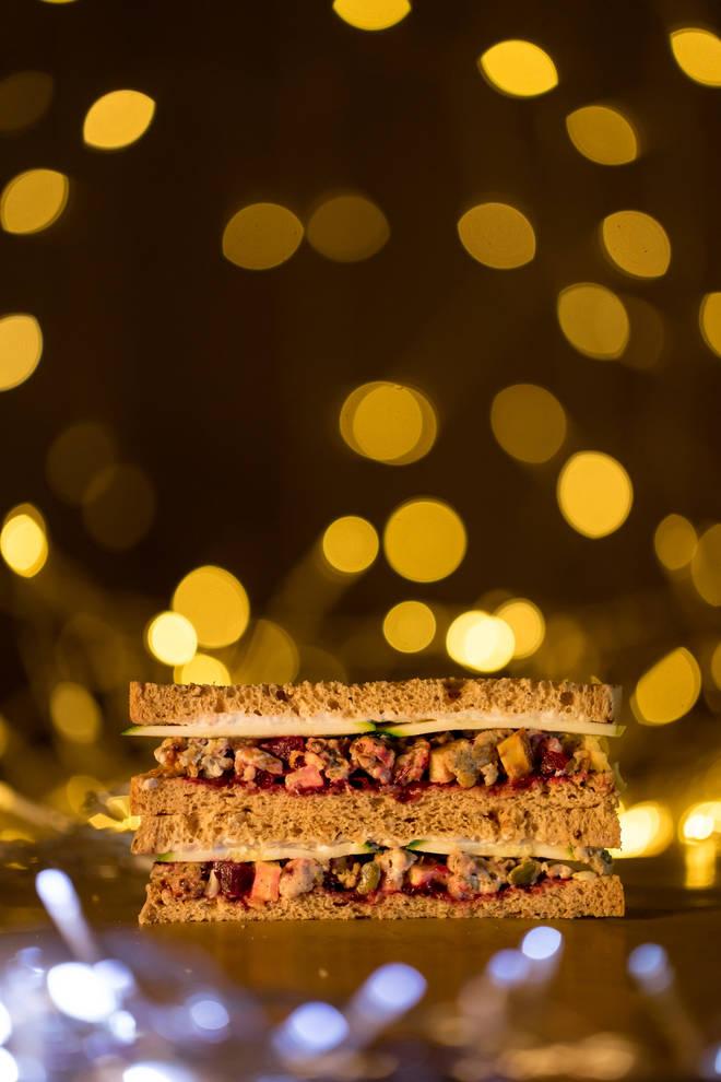 Holland and Barrett's Roasted Veggies & Stuffing Christmas Sandwich