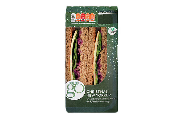 Sainsbury's On The Go Vegan Christmas New Yorker