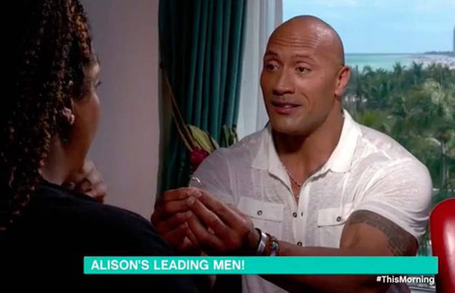 The Rock proposed to Alison in the middle of an interview