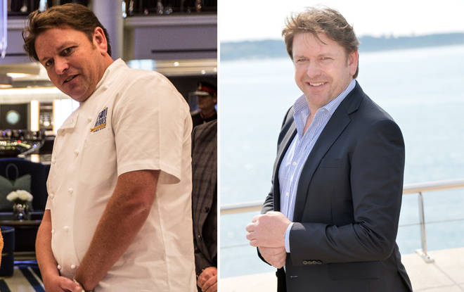 James Martin has dropped five stone over the years
