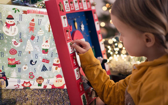 The bargain kit only cost £4 and is a nice touch on a classic advent calendar