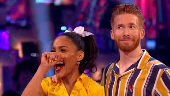 Dancing pro Neil Jones was left cringing at Motsi's comments.