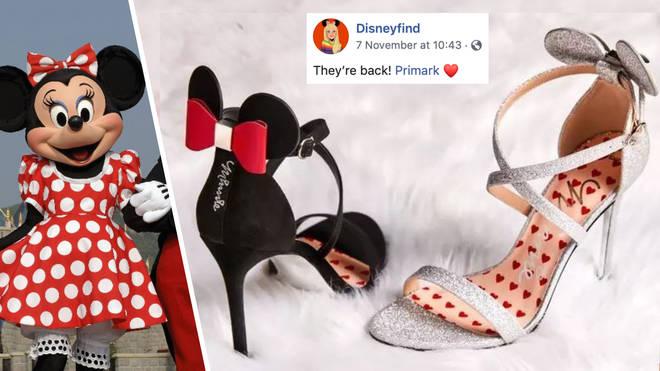 Primark brings back popular £14 Minnie Mouse heels in two new Disney designs