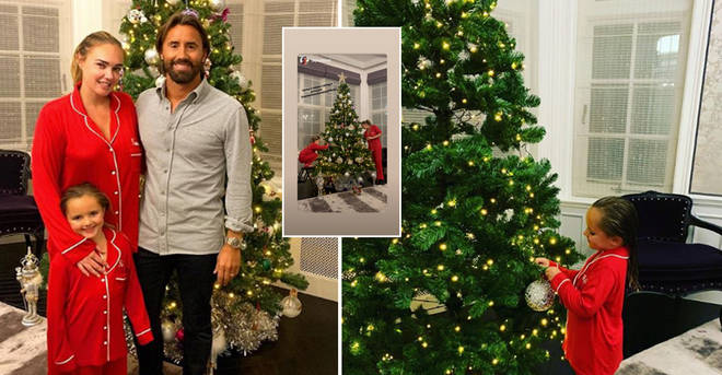 Tamara Ecclestone divides fans as she shows off lavish Christmas tree with daughter Sophia six weeks before...