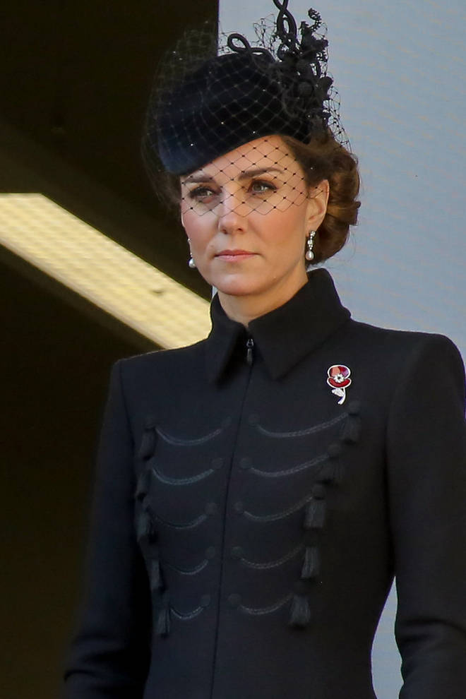 Kate wore the new badge in honour of her family