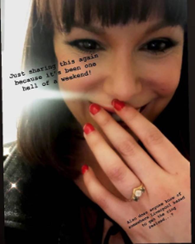 Jessica revealed her ring needs adjusting