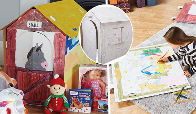Parents go wild for £6.99 Aldi playhouse that kids can colour in themselves