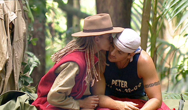 Katie and Peter got together on I'm A Celeb in 2004