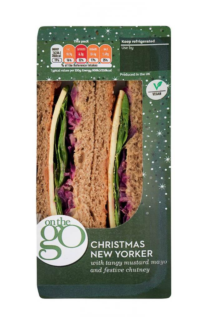 Sainsbury's On The Go vegan Christmas sandwich
