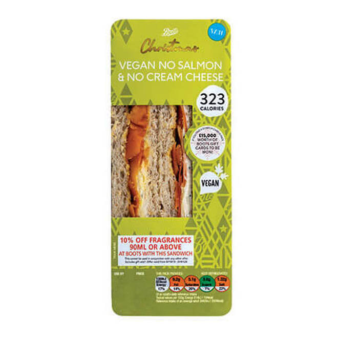 Boots vegan sandwich