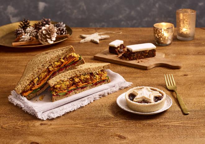 Costa vegan Christmas sandwich