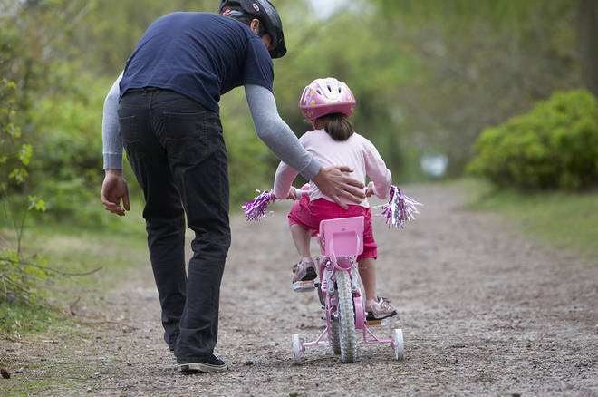 You'll need patience when teaching a child to ride a bike