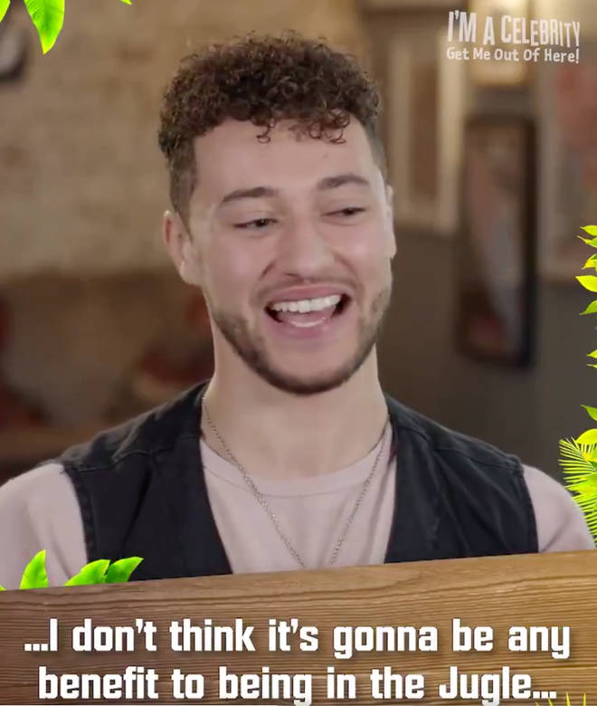 Myles was being interviewed ahead of appearing on I'm A Celeb