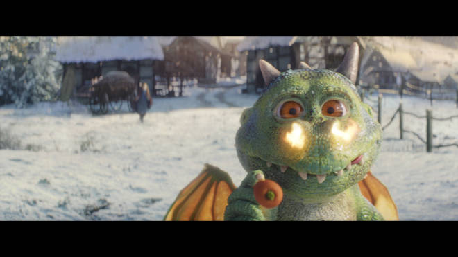 Edgar the dragon is the main character of this year's John Lewis Christmas campaign