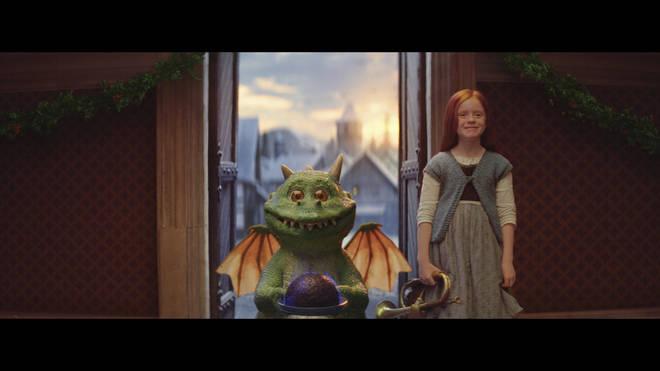 The advert stars Edgar the Dragon