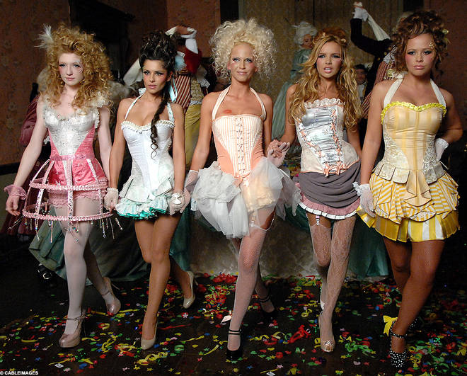 Nadine (second from right) was in Girls Aloud