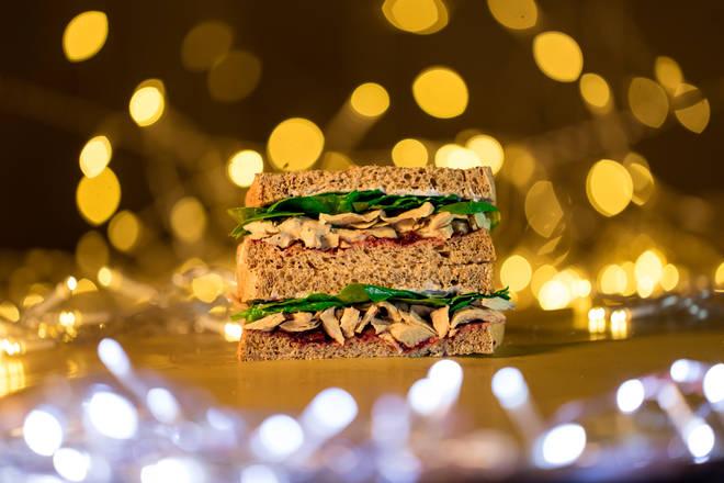 Holland and Barrett vegan Christmas sandwich