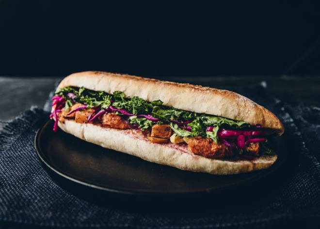 Caffè Nero vegan Christmas sandwich