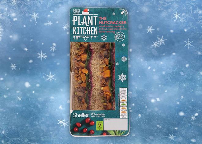 The M&S vegan Christmas sandwich