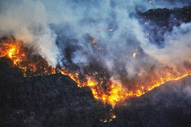 Wildfires are burning near the I'm A Celeb camp in Australia