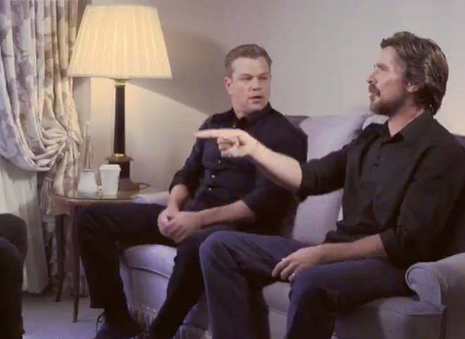 Christian was joined by Matt Damon for an interview about their new film