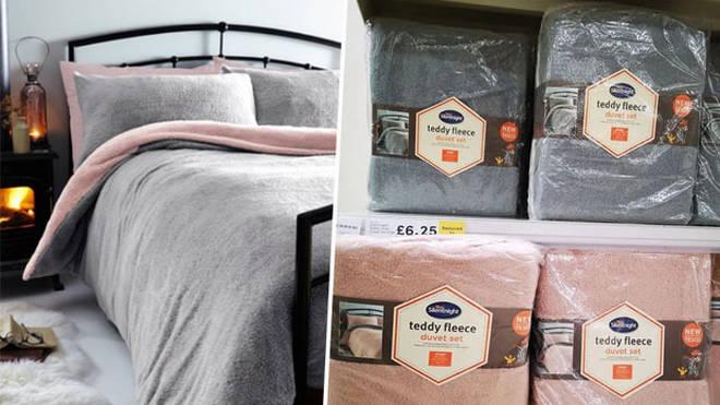 Shoppers Go Wild For Tesco Teddy Fleece Duvet Set Selling