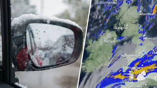 The Met Office has warned of heavy rain and snow