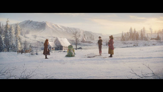 Excitable Edgar melts a snowman in the ad