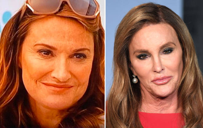 Sarah (right) agreed with a hilarious Tweet of her side-by-side with Caitlyn (left)