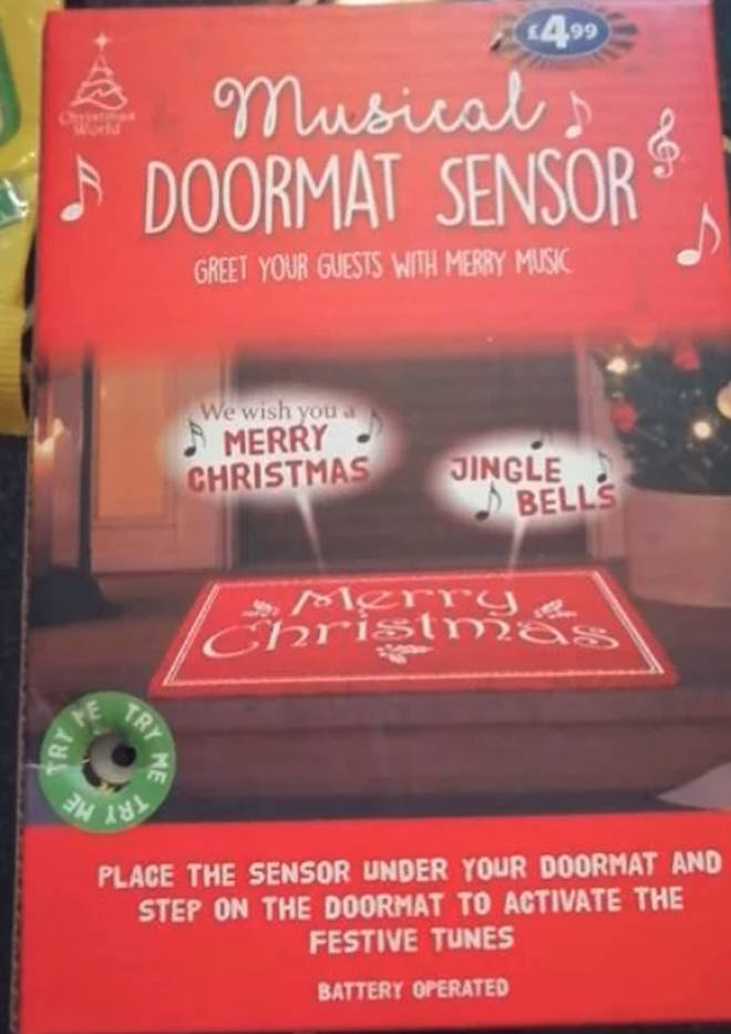 B&M is selling a musical doormat for Christmas
