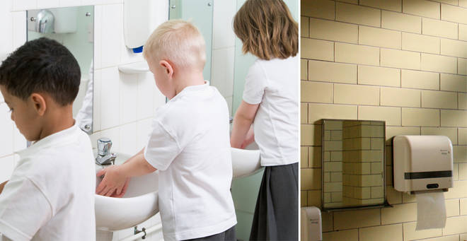 A primary school has been slammed for its unusual toilet policy (stock image)