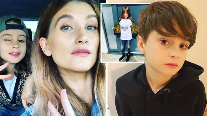 Emmerdale's Charley Webb debuts nine-year-old son Buster's short hair after he was cruelly trolled for...