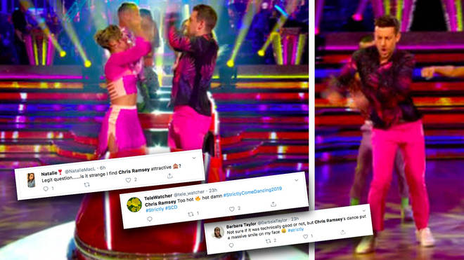 Viewers were captivated by comedian Chris' moves... and outfit