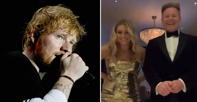 Ed Sheeran performed at the star-studded bash at the weekend