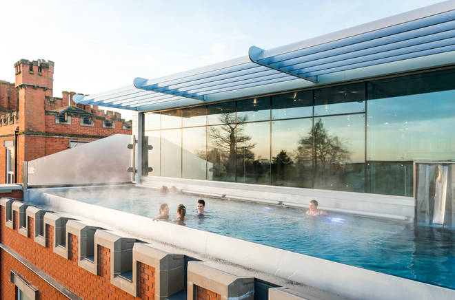 Ragdale Hall's rooftop pool is their newest feature