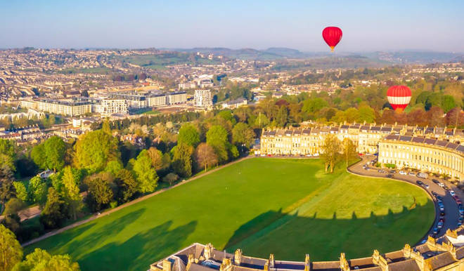 The Royal Cresent Hotel & Spa has beautiful views of Bath