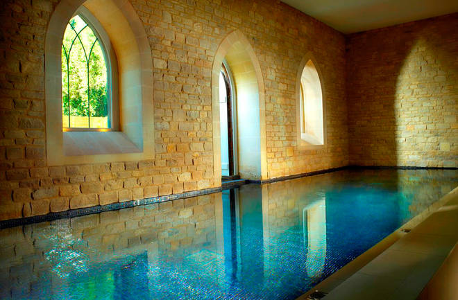 The spa is relaxing and tranquil
