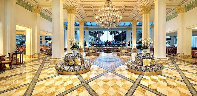 The celebs get to stay at the Versace Palazzo hotel after the show