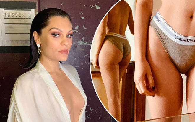 Jessie J shows off figure in sexy new photo posing in underwear and she looks incredible