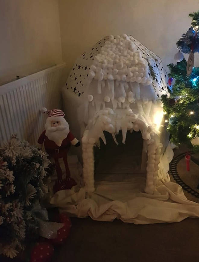 One crafty mum has shared a photo of her crafty igloo