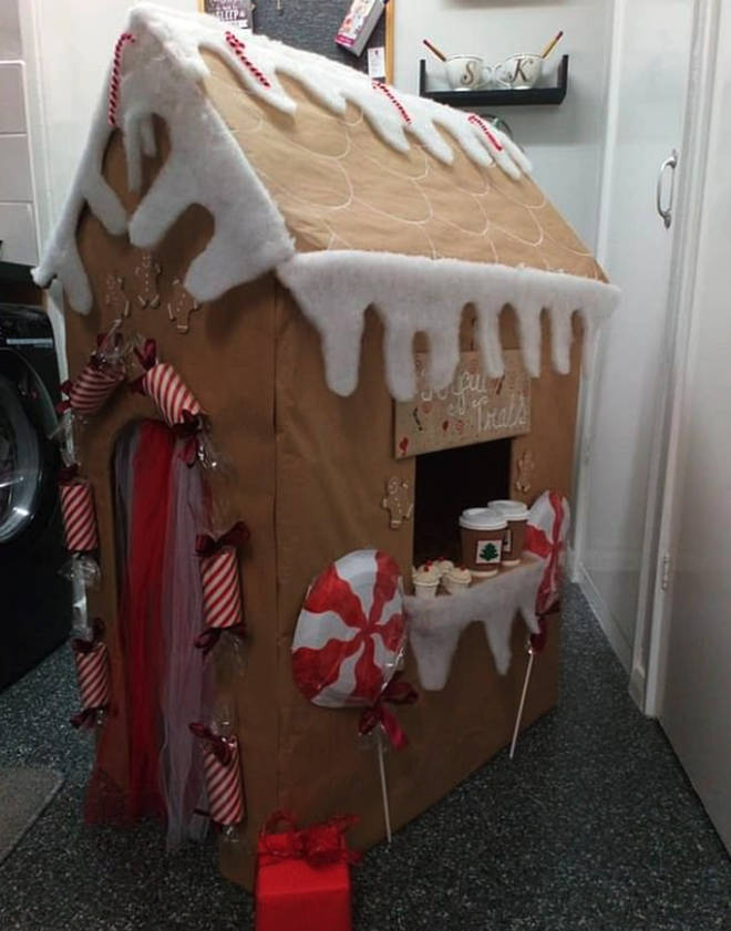 Another mum created a gingerbread house from old cardboard