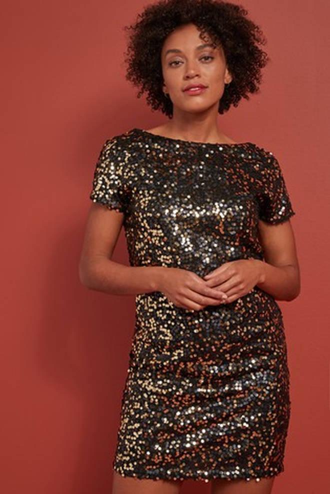 Next Sequin T-Shirt Dress