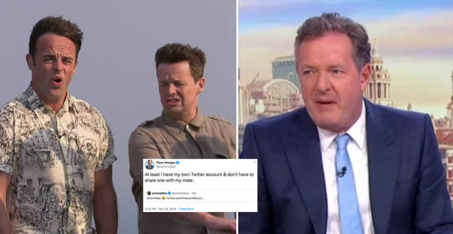 Ant and Dec are feuding with Piers Morgan