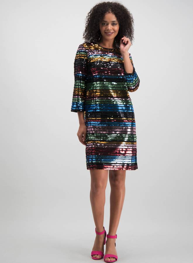 TU Multicoloured Sequin Stripe Shift Dress